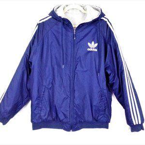 Adidas Reveriable Hooded Stadium Jacket Size XL